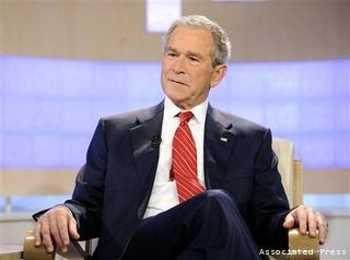 George W. Bush book promotion