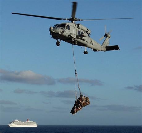 Supplies for cruise ship