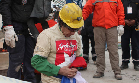 9th rescued miner praying
